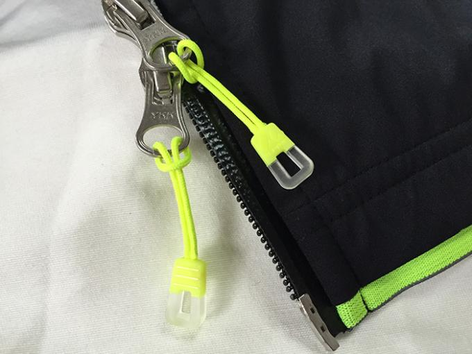 Novelty Transparent Rubber Zipper Puller With Woven Fabric String